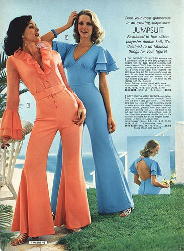 orange 1970s jumpsuit