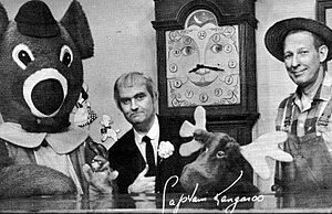 captain kangaroo mr. moose bunny rabbit grandfather clock