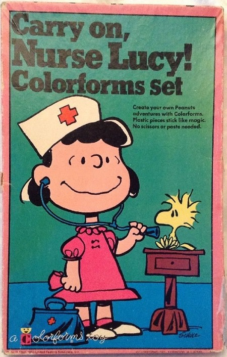 Carry on Nurse Lucy colorforms