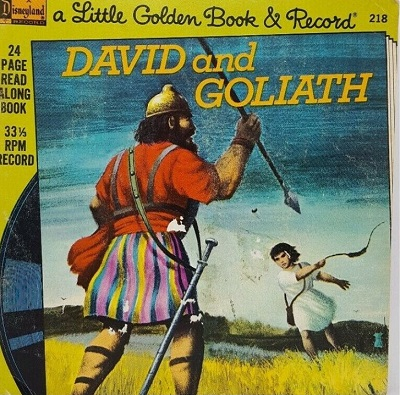 Little Golden Book and Record David and Goliath read-along